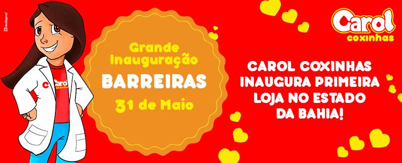 Carol Coxinhas inaugura primeira loja no Estado da Bahia!