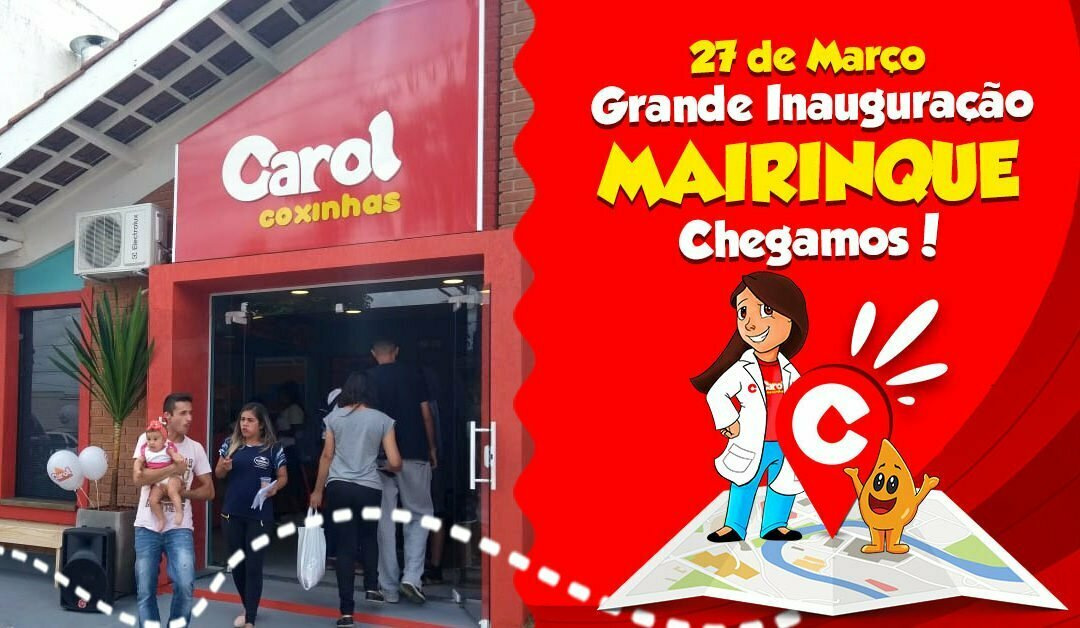 Carol Coxinhas chega a Mairinque para espalhar sabor e amor!