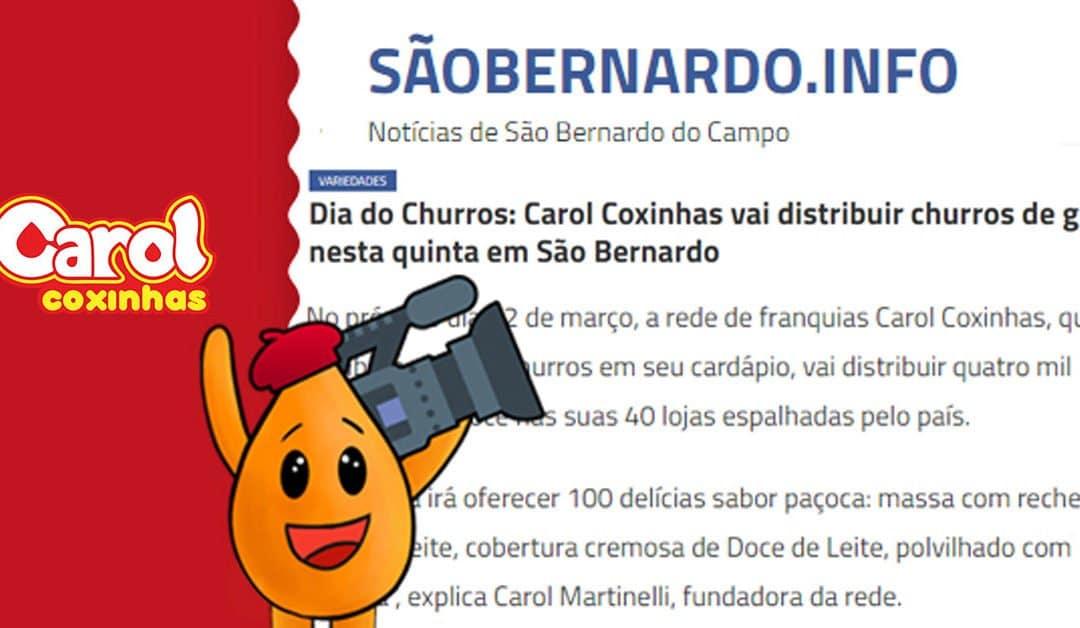 São Bernardo.info – Carol Coxinhas vai distribuir churros de graça nesta quinta em São Bernardo