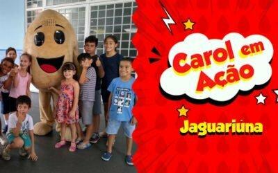 CAROL EM AÇÃO ESPALHA AMOR EM JAGUARIÚNA