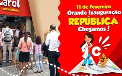 Carol Coxinhas chega em República, São Paulo para espalhar sabor e amor!