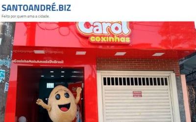 Carol Coxinhas vai distribuir 500 vales-degustação durante inauguração em Santo André